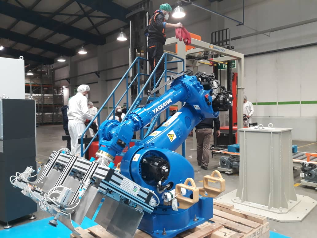 پروژه پلتایزینگ رباتیک
